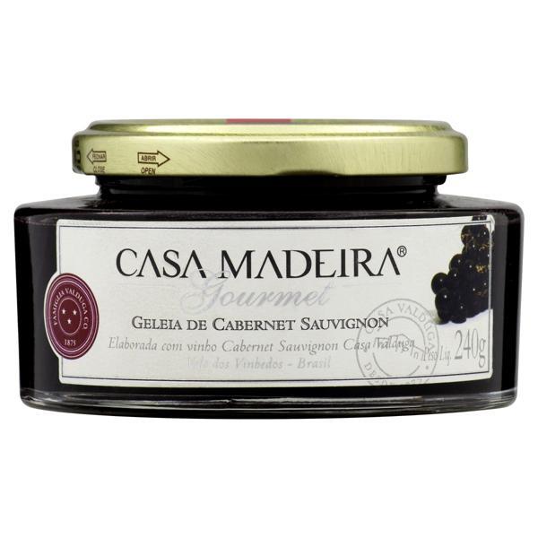 Geleia Cabernet Sauvignon Casa Madeira Gourmet Vidro 240g