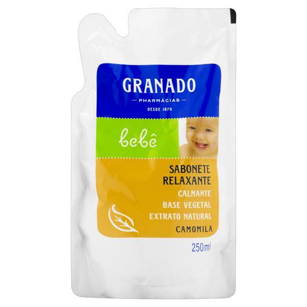 Sabonete Líquido Relaxante Camomila Granado Bebê Sachê 250ml Refil