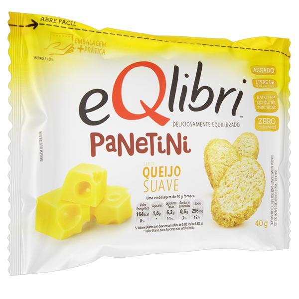 Snack Queijo Suave Eqlibri Panetini Pacote 40g