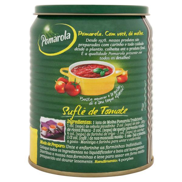 Molho de Tomate Tradicional Pomarola Lata 340g