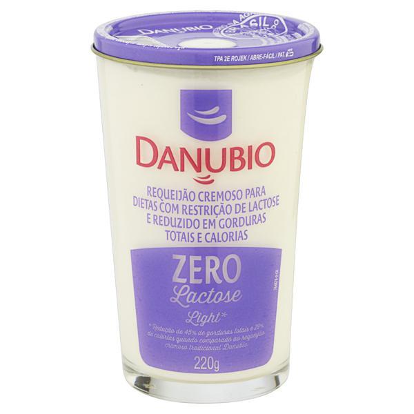 Requeijão Cremoso Light Zero Lactose Danubio Copo 220g