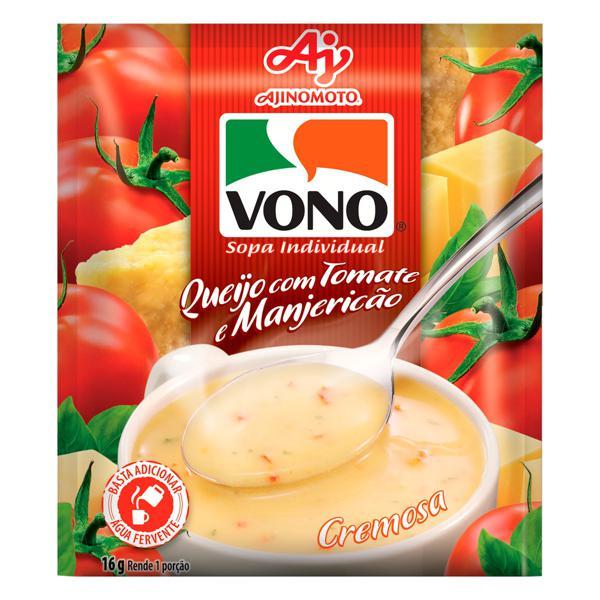 Sopa Individual Cremosa Queijo com Tomate e Manjericão Vono Sachê 16g