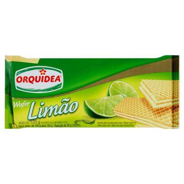 Biscoito Wafer Recheio Limão Orquídea Pacote 120g