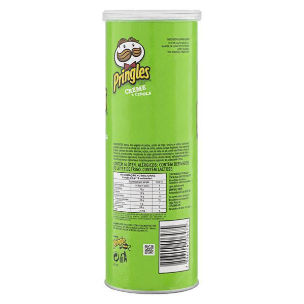 Salgadinho de Batata Creme e Cebola Pringles Tubo 120g