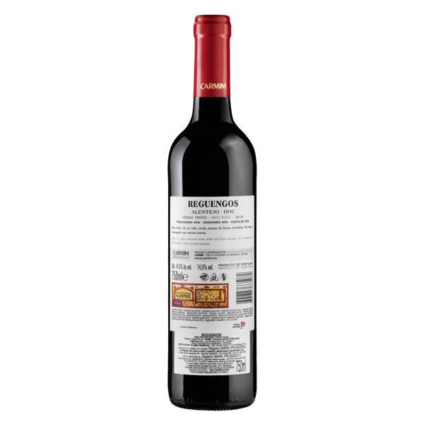 Vinho Português Tinto Seco Reguengos Trincadeira Aragonez Castelão Alentejo Garrafa 750ml