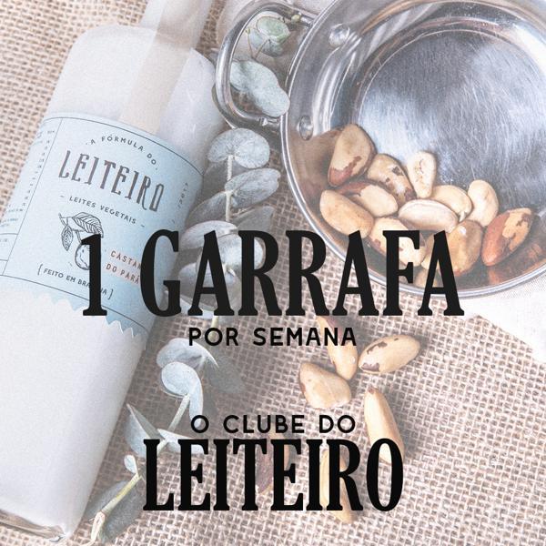 Clube do Leiteiro 1 Garrafa por semana - Total 12 Garrafas