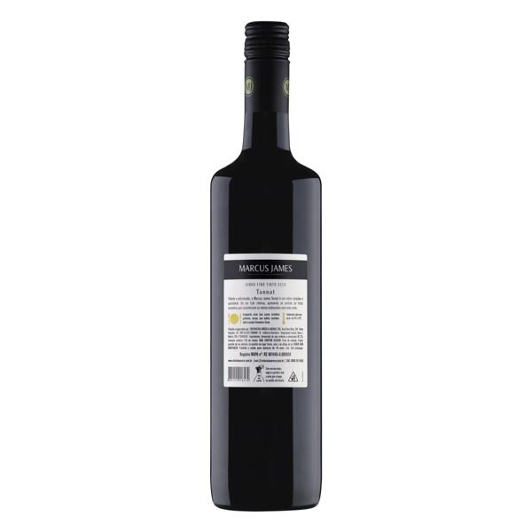 Vinho Brasileiro Tinto Seco Marcus James Tannat Serra Gaúcha Garrafa 750ml