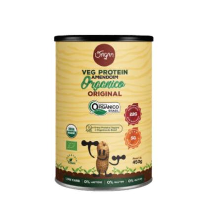 Proteína Vegana de Amendoim Orgânica 450g - Organ