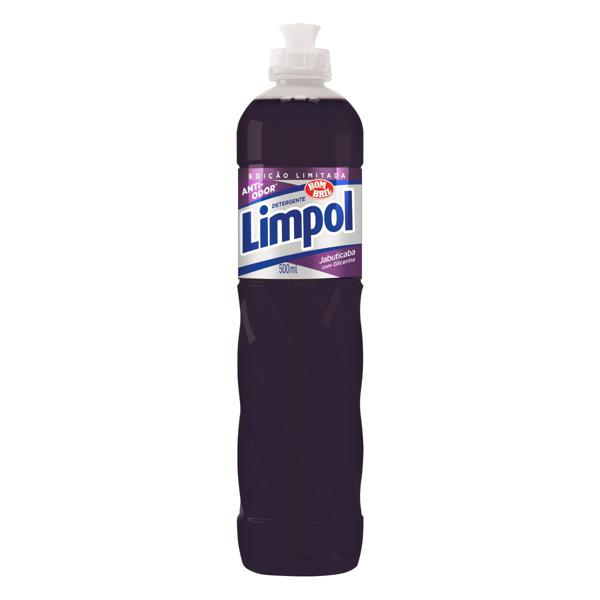 Detergente Líquido Jabuticaba Limpol Frasco 500ml