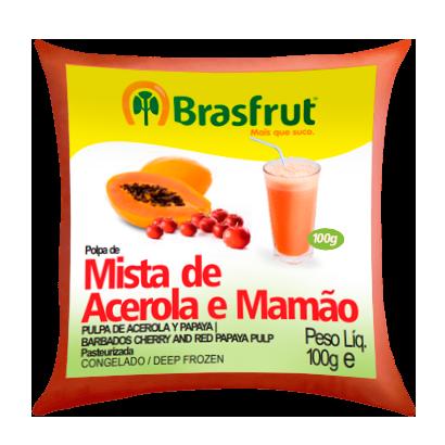 Polpa de Fruta BRASFRUT Acerola e Mamão 100g