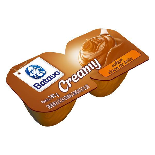 Sobremesa Láctea Doce de Leite Batavo Creamy Bandeja 180g 2 Unidades