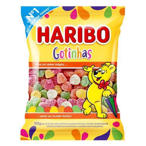 Bala de Gelatina HARIBO Gotinhas Pacote 100g