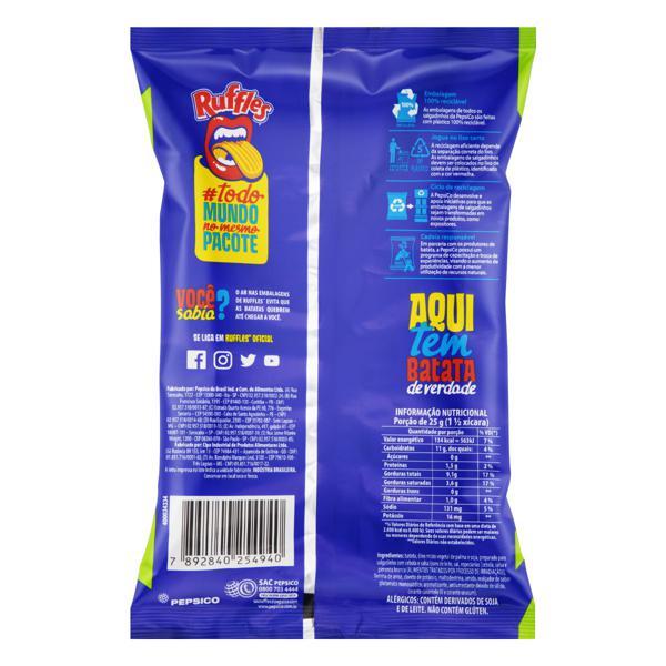 Batata Frita Ondulada Cebola e Salsa Elma Chips Ruffles Pacote 57g