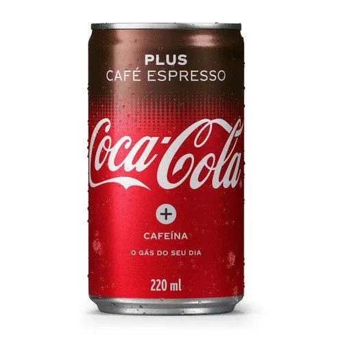 Refrigerante COCA-COLA Plus Café Espresso Lata 220ml