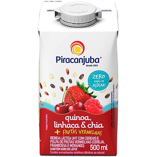 Bebida Lactea Piracanjuba Quinoa E Linhaça 500Ml Frts.Verm.