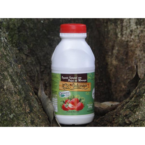 Iogurte Morango Orgânico - Malunga (500ml)