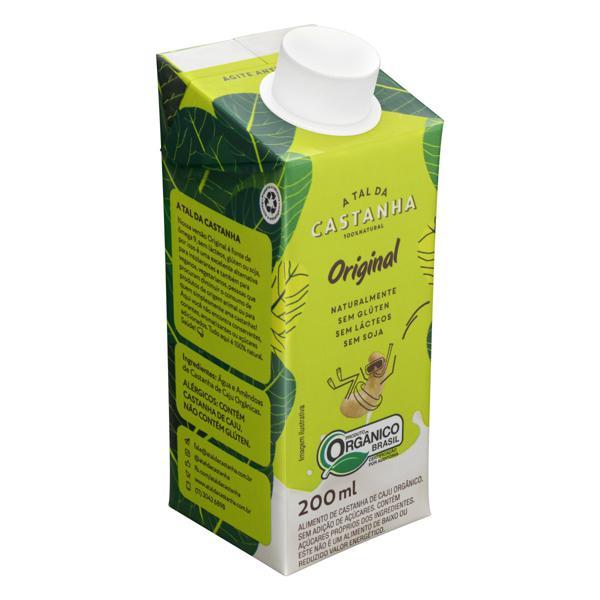 Bebida à Base de Castanha-de-Caju Orgânica Original A Tal da Castanha Caixa 200ml