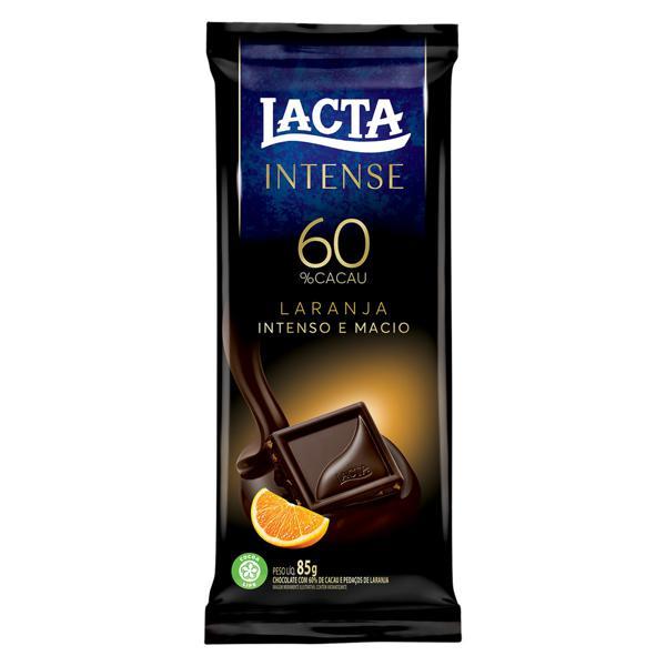 Chocolate 60% Cacau Laranja Lacta Intense Pacote 85g