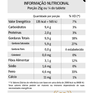 Chocolate Amargo 70 % Nugali 100g