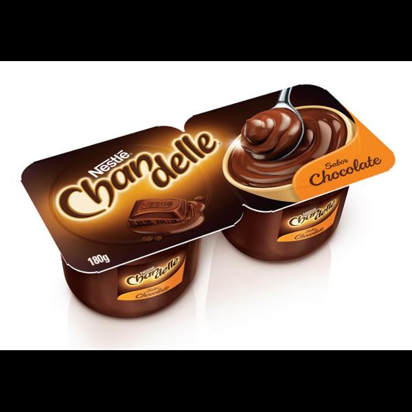 Sobremesa Láctea Chocolate Nestlé Chandelle Bandeja 180g 2 Unidades