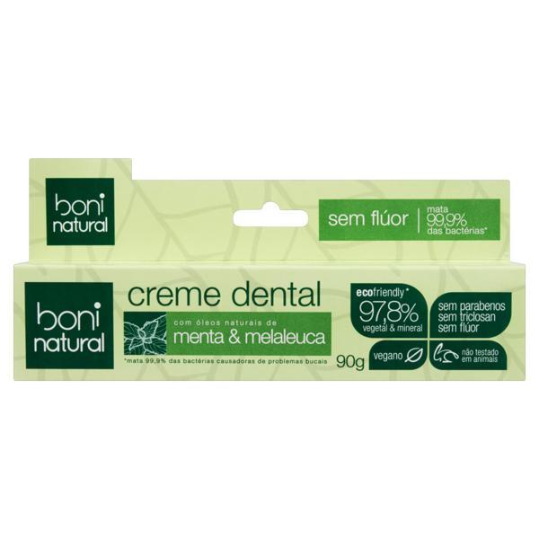 Creme Dental Menta e Melaleuca Boni Natural Caixa 90g