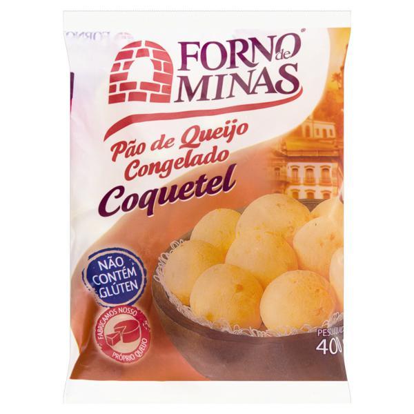 Pão de Queijo Congelado Coquetel Forno de Minas Pacote 400g
