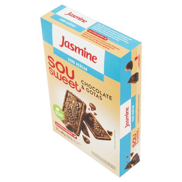 Biscoito Chocolate & Gotas Zero Açúcar Jasmine Caixa 90g
