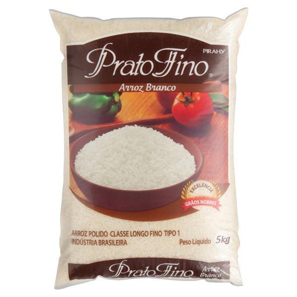Arroz Branco Tipo 1 Prato Fino Pacote 5kg
