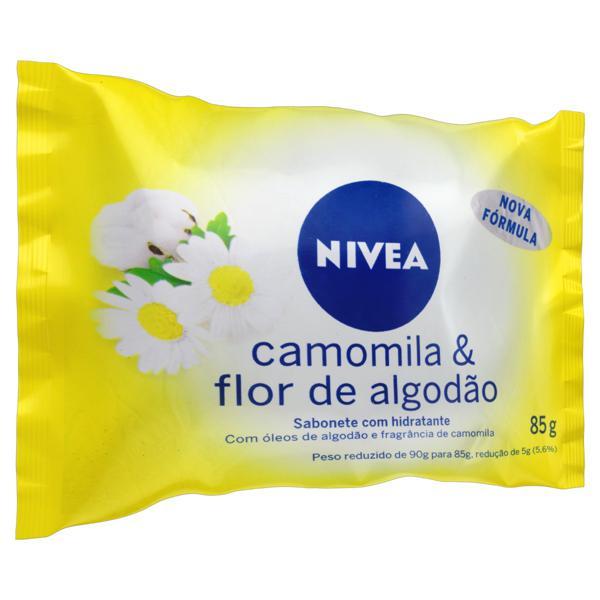 Sabonete em Barra Hidratante Camomila & Flor de Algodão Nivea Pacote 85g