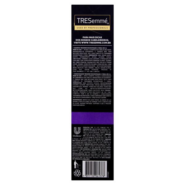 Kit Shampoo 400ml + Condicionador 200ml Tresemmé Reconstrução e Força