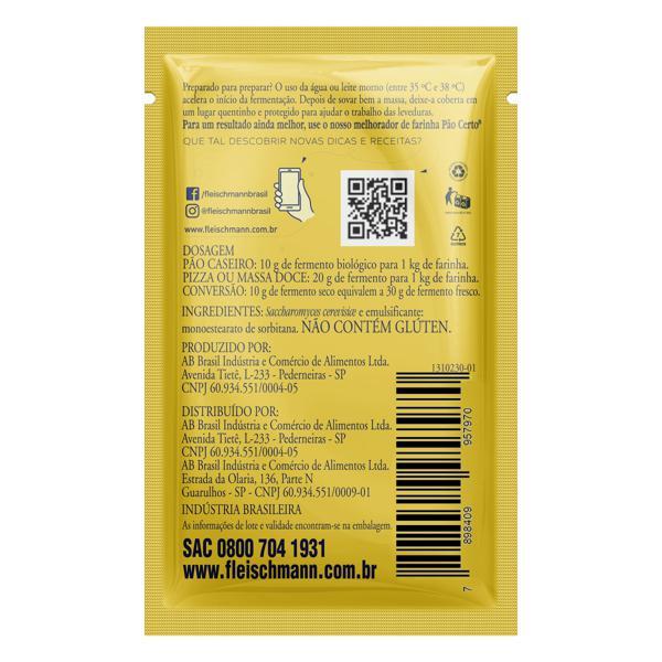 Fermento Biológico Seco Instantâneo Fleischmann Envelope 10g