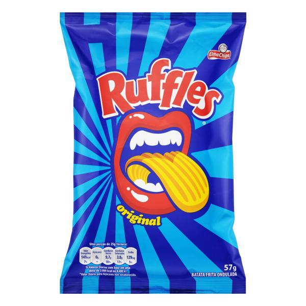 Batata Frita Ondulada Original Elma Chips Ruffles Pacote 57g