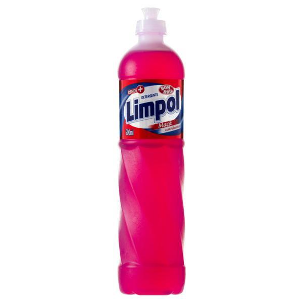 Detergente Líquido Maçã Bom Bril Limpol Frasco 500ml