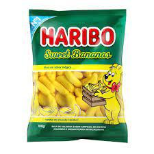 Bala Gelatina Sweet Bananas Haribo 100Gr