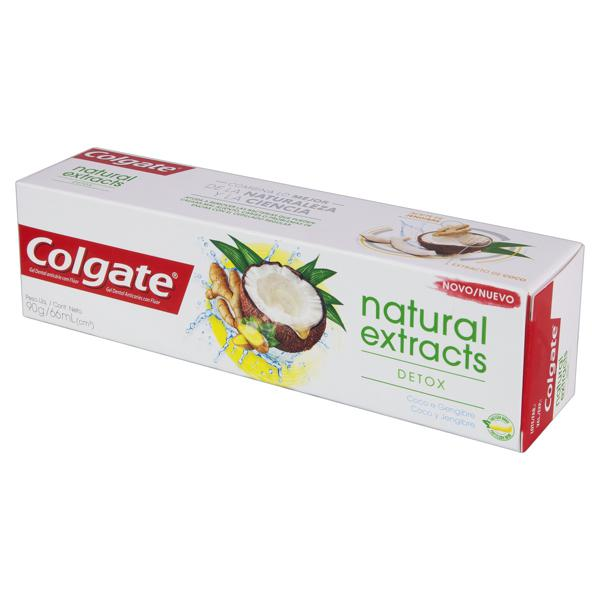 Gel Dental Detox Coco e Gengibre Colgate Natural Extracts Caixa 90g