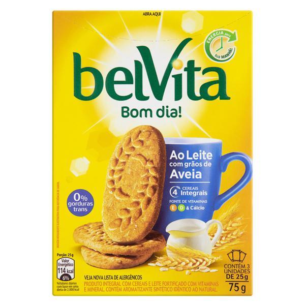 Biscoito Integral Leite com Grãos de Aveia Belvita Caixa 75g 3 Unidades