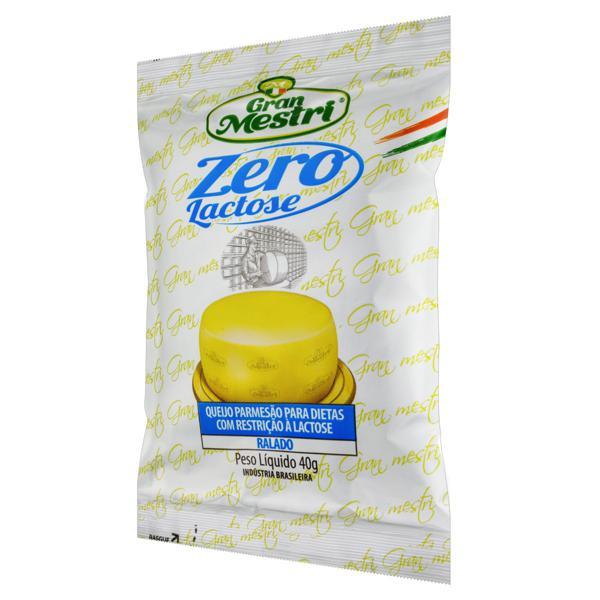 Queijo Parmesão Ralado Zero Lactose Gran Mestri Pacote 40g