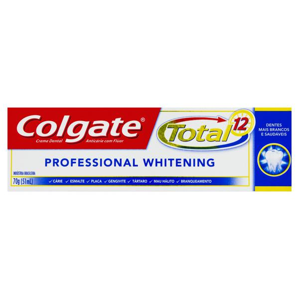 Creme Dental Colgate Total 12 Professional Whitening Caixa 70g