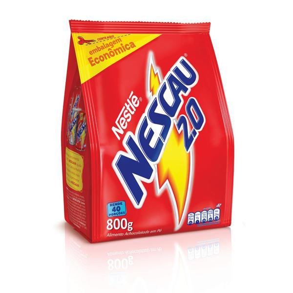 Achocolatado em Pó NESCAU Nestlé 2.0 Aventuras Refil 800g