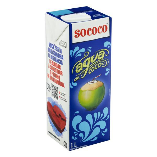 Água de Coco Esterilizada Sococo Caixa 1l