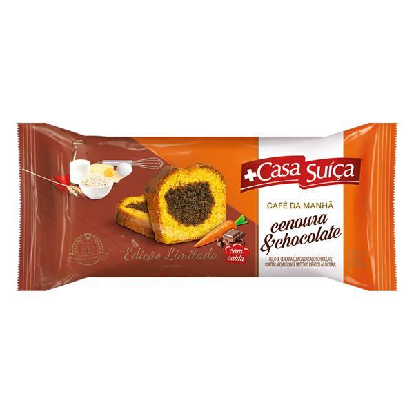 Bolo Cenoura e Chocolate Casa Suíça Café da Manhã Pacote 250g