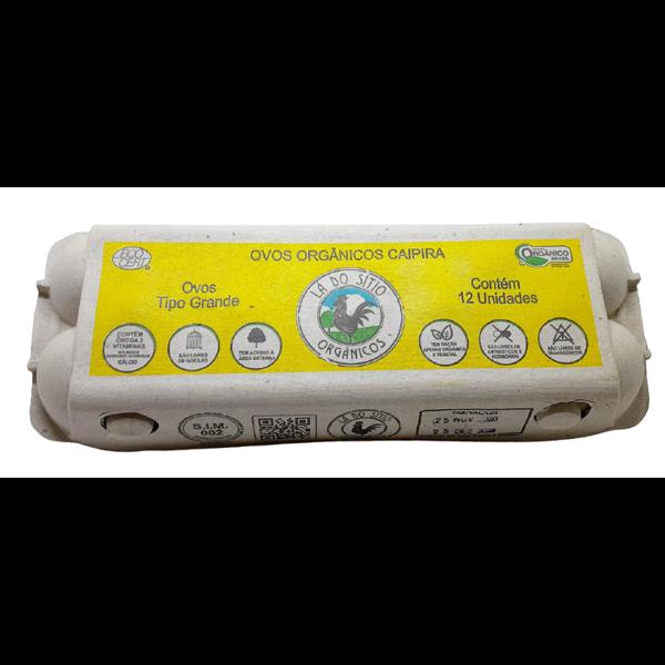 Ovos Orgânicos Lá do Sítio 12 unidades