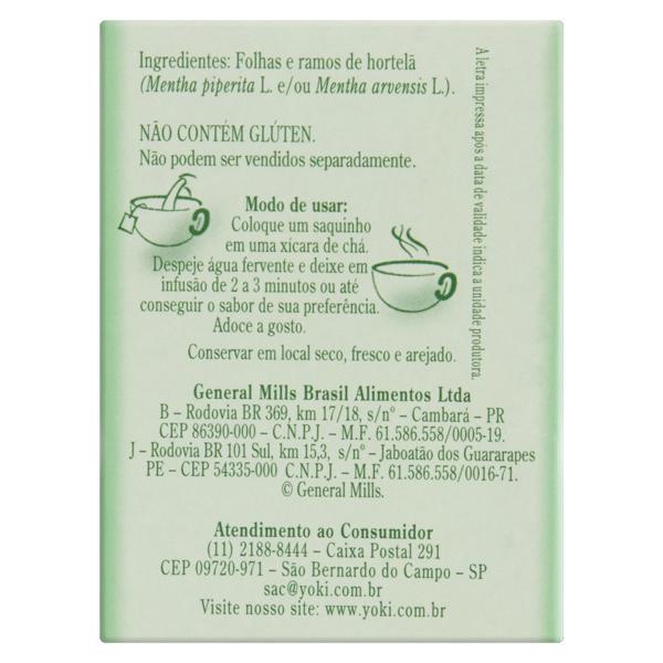 Chá Hortelã Lin Tea Caixa 10g 10 Unidades