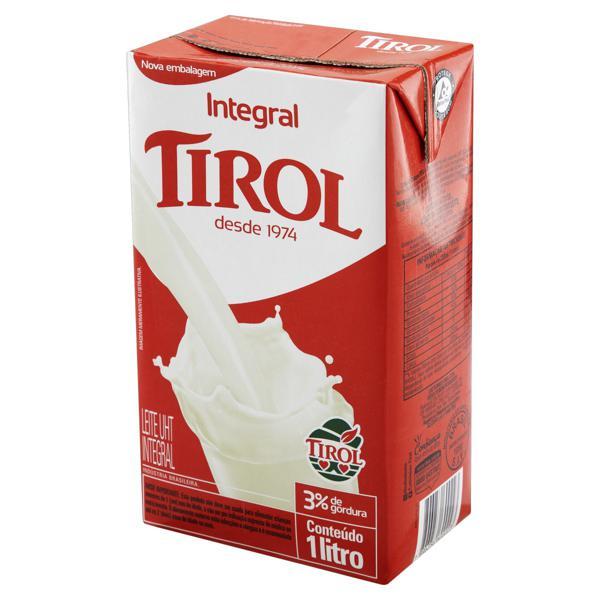 Leite UHT Integral Tirol Caixa 1l