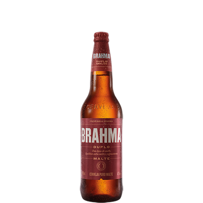 Cerveja Brahma Duplo Malte 600Ml Vidro