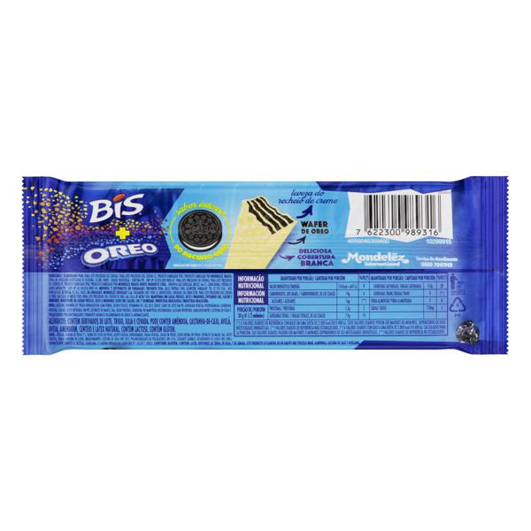 Wafer Oreo Cobertura Chocolate Branco Lacta Bis Pacote 100,8g