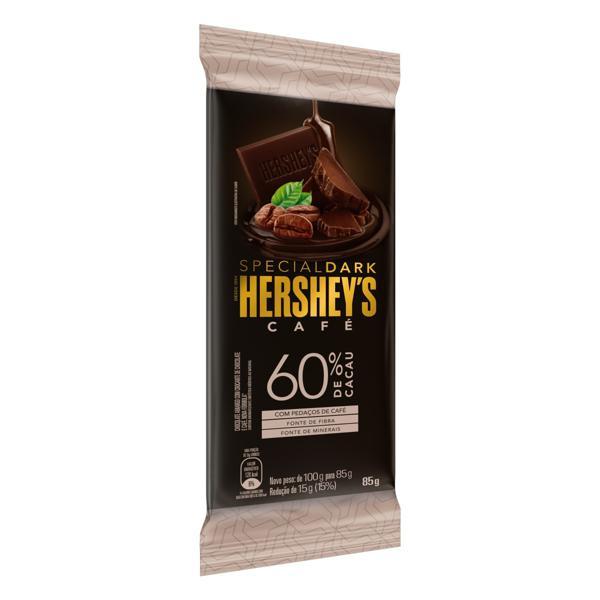 Chocolate Amargo 60% Cacau Café Hershey's Special Dark Pacote 85g