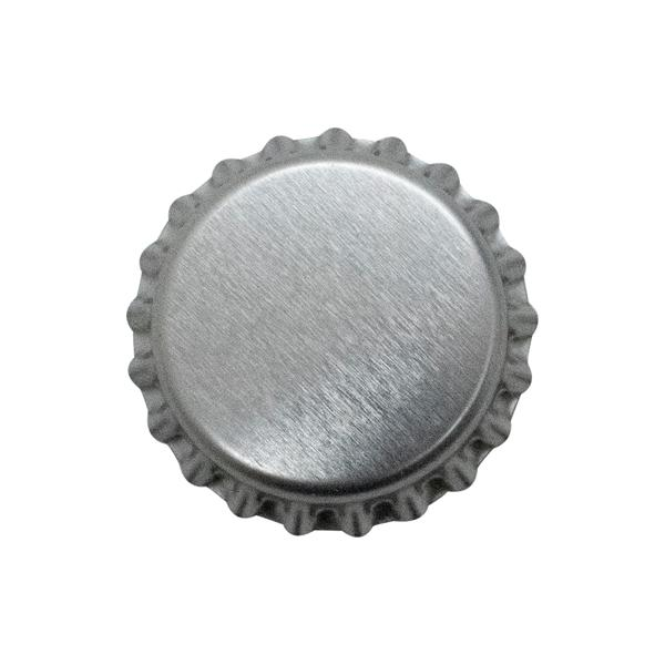 Tampinha Pry-Off 26mm Cinza 50un