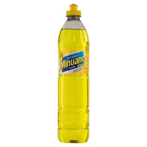 Detergente Líquido Neutro Minuano 1300 Frasco 500ml
