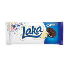 Chocolate Branco com Biscoito Oreo Lacta Laka Pacote 90g